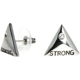 "Unbroken Designs Strength Studs 3/4"" Triangle Silver Plated"