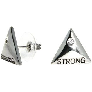 """Unbroken Designs Strength Studs 3/4"""" Triangle Silver Plated"""