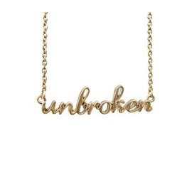 "Unbroken Designs Unbroken Necklace Gold Plated 16"" with 3"" extender chain"