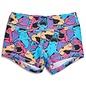 KFT Brand Keep Moving Lined Shark Attack Shorts