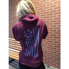 Endurance Apparel & Gear USA Endurance Strong Hoodie Burgundy Heather