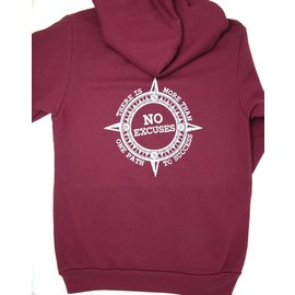 Endurance Apparel & Gear Path to Success Zip Hoodie Maroon
