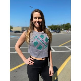Endurance Apparel & Gear Glitter Crop Tank Storm