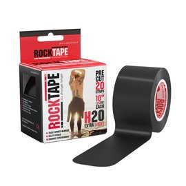 "Rock Tape 2"" Black RockTape Pre-Cut - H2O"