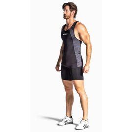 Virus Elevate V3 Singlet Men Black/Gun Metal XL