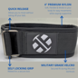 Endurance Apparel & Gear Endurance Weightlifting Nylon Belts XLock - Black