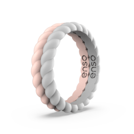 ENSO Braided Stackables - Pink Sand/Misty Grey