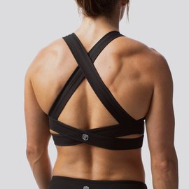Born Primitive Double Cross Sports Bra - Black