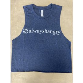 Endurance Apparel & Gear Always Hangry Muscle Crop - Heather Navy