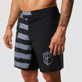 Born Primitive American Defender Shorts 3.0 (Undefeated Gunmetal-Velcro Closure)