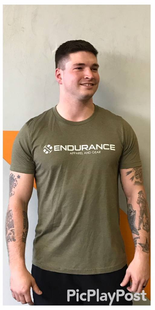 3612a58ac Endurance Mens Tee in Heather Olive - Endurance Apparel and Gear, LLC