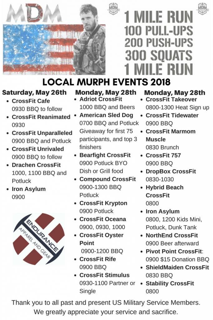 Hampton Roads Murph Events