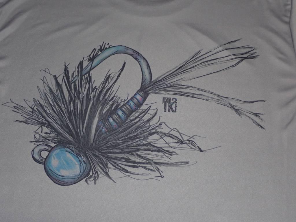 BLUE QUILL ANGLER Bqa Logo Jig Cool-Dri Ls Shirt - Granite