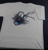 BLUE QUILL ANGLER Bqa Logo Jig T-Shirt - Silver