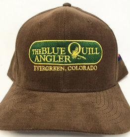 BLUE QUILL ANGLER BQA LOGO CORDUROY CAP - COFFEE