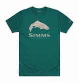 SIMMS SIMMS FIREHOLE TROUT T-SHIRT - DARK TEAL HEATHER