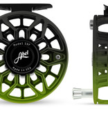 ABEL REELS Abel Sdf 5/6 - Ported - Satin Black Green Fade Finish - Black Drag Knob And Aluminum Handle
