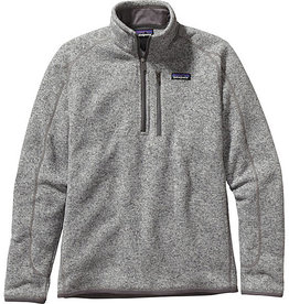 PATAGONIA PATAGONIA MENS BETTER SWEATER 1/4 ZIP - ON SALE!! STONEWASH S