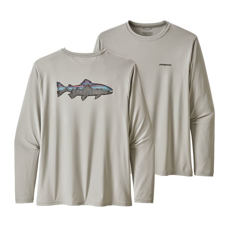 PATAGONIA Patagonia Mens Ls Capilene Cool Daily Fish Graphic Shirt - ON SALE!!