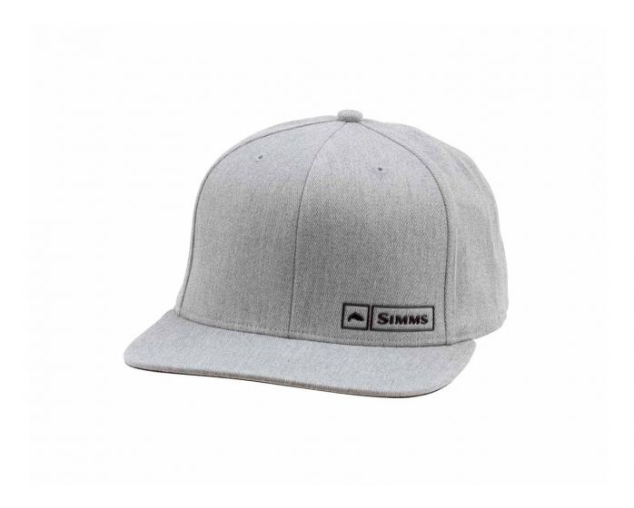 SIMMS Simms Trout Logo Lockup Cap - Heather Grey