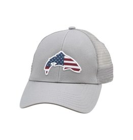 SIMMS SIMMS SMALL FIT USA TROUT TRUCKER HAT - BOULDER