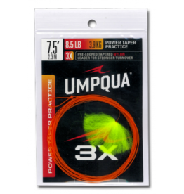 UMPQUA Umpqua Power Taper 7'6'' - 3X Practice Leader - Orange