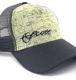 SCOTT FLY RODS Scott Fly Rods Colorado Map Hat - Dark Grey
