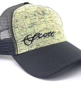 SCOTT FLY RODS Scott Fly Rods Colorado Map Hat - Dark Grey