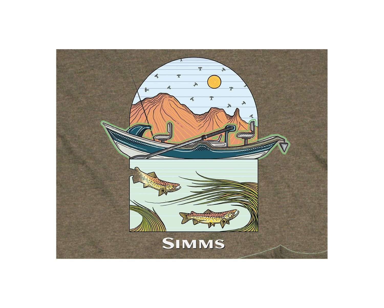 SIMMS Simms Underwood River T-Shirt - Olive Heather