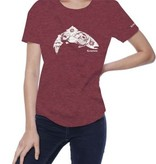 SIMMS Simms Women's Anderson Floral Trout T-Shirt - Burgundy Heather
