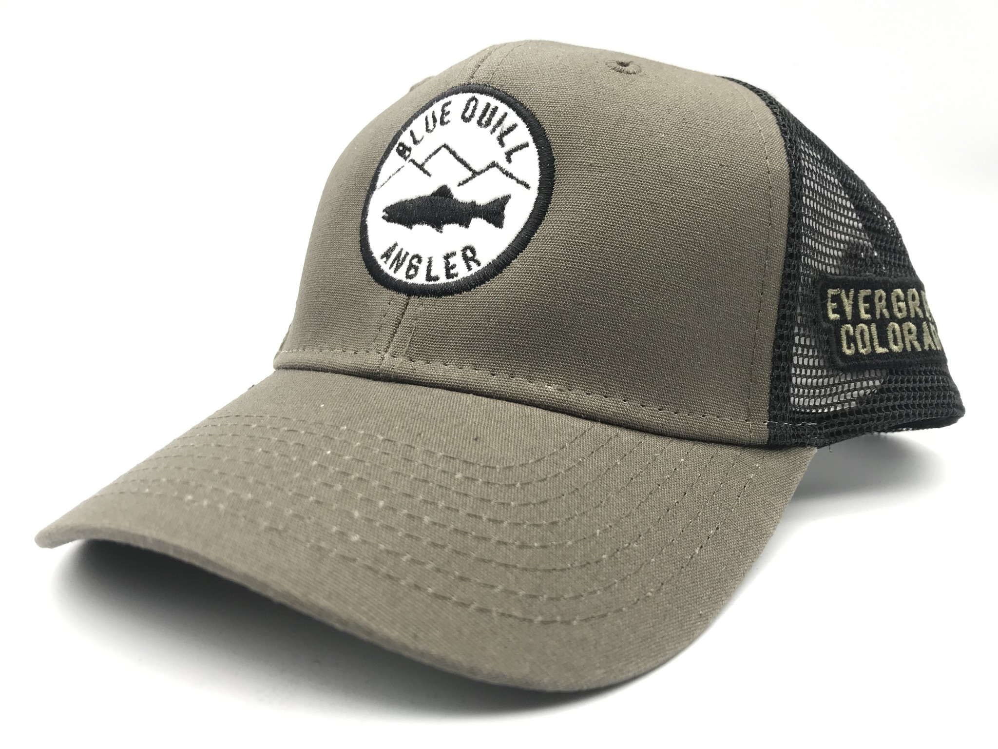 BLUE QUILL ANGLER Blue Quill Logo Industrial Canvas Mesh Cap