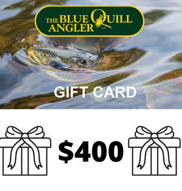 BLUE QUILL ANGLER Retail Gift Cards $400