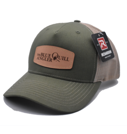 BLUE QUILL ANGLER BQA Logo Trucker (R-112FP) - Leather Patch