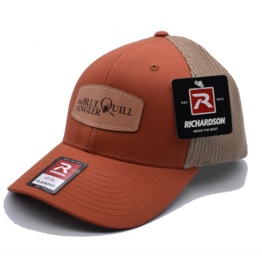 BLUE QUILL ANGLER BQA Logo FlexFit Trucker (R-110) - Leather Patch
