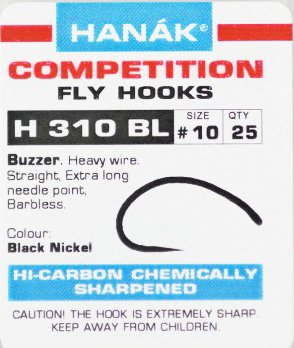 HANAK Hanak H310Bl Barbless Buzzer Hook - 25 Pack