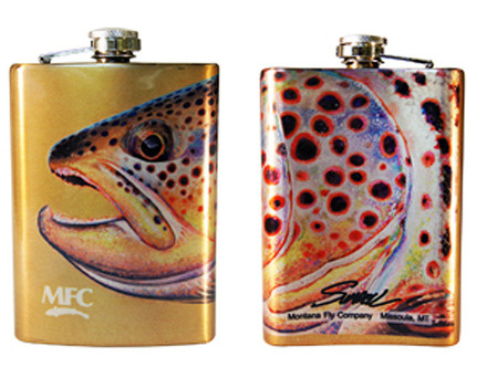 MONTANA FLY MFC STAINLESS STEEL HIP FLASK - SUNDELL'S OCTOBER BROWN