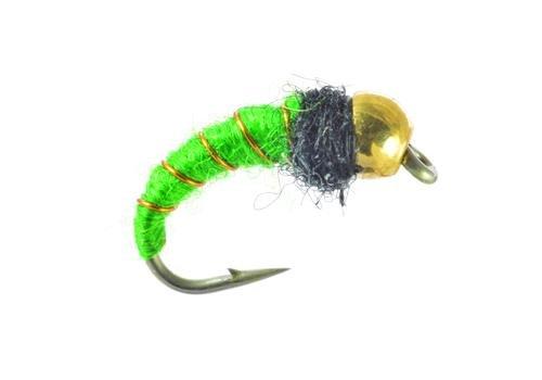 UMPQUA Bead Head Caddis Larva - Bright Green