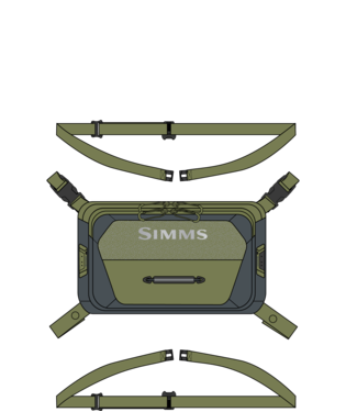 SIMMS FREESTONE CHEST PACK - SHADOW GREEN