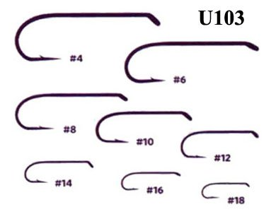 UMPQUA UMPQUA U-SERIES U103 NYMPH HOOK - 50 PACK - ON SALE