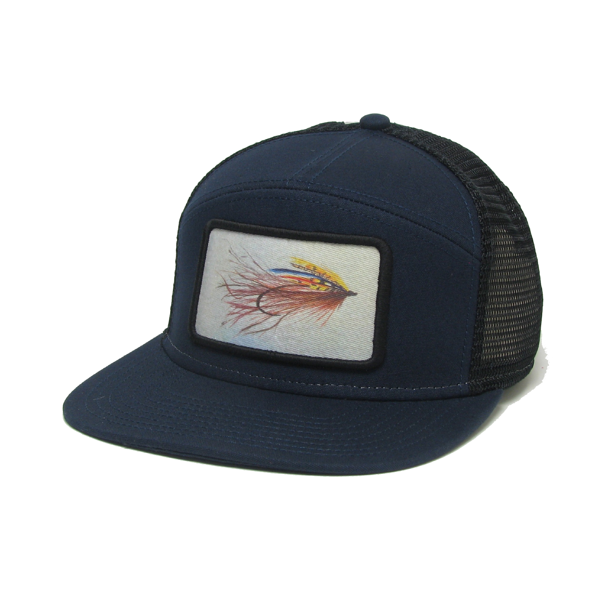 Midwest and Beyond Streamer Fly Navy/Black Hopback Trucker