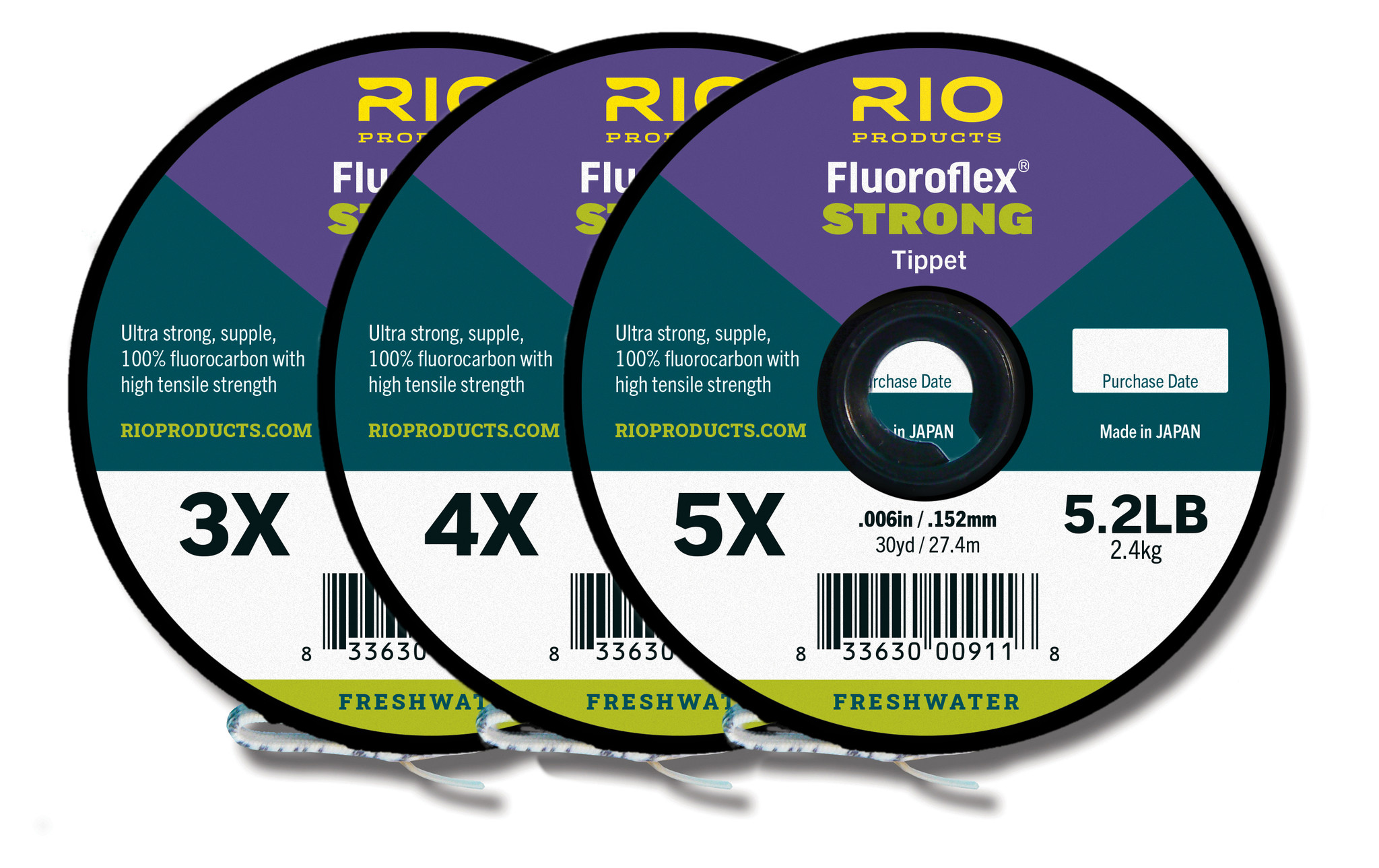 RIO PRODUCTS Rio Fluoroflex Strong Tippet 3-pack 4X-6X