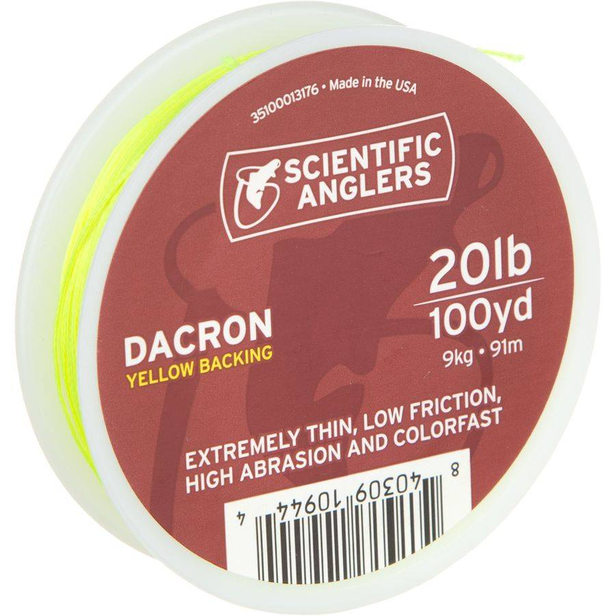 SCIENTIFIC ANGLERS SCIENTIFIC ANGLERS BACKING - 100 YARDS - 20 LB - YELLOW