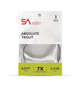 SCIENTIFIC ANGLERS Scientific Anglers Absolute Trout Leader - 9 foot