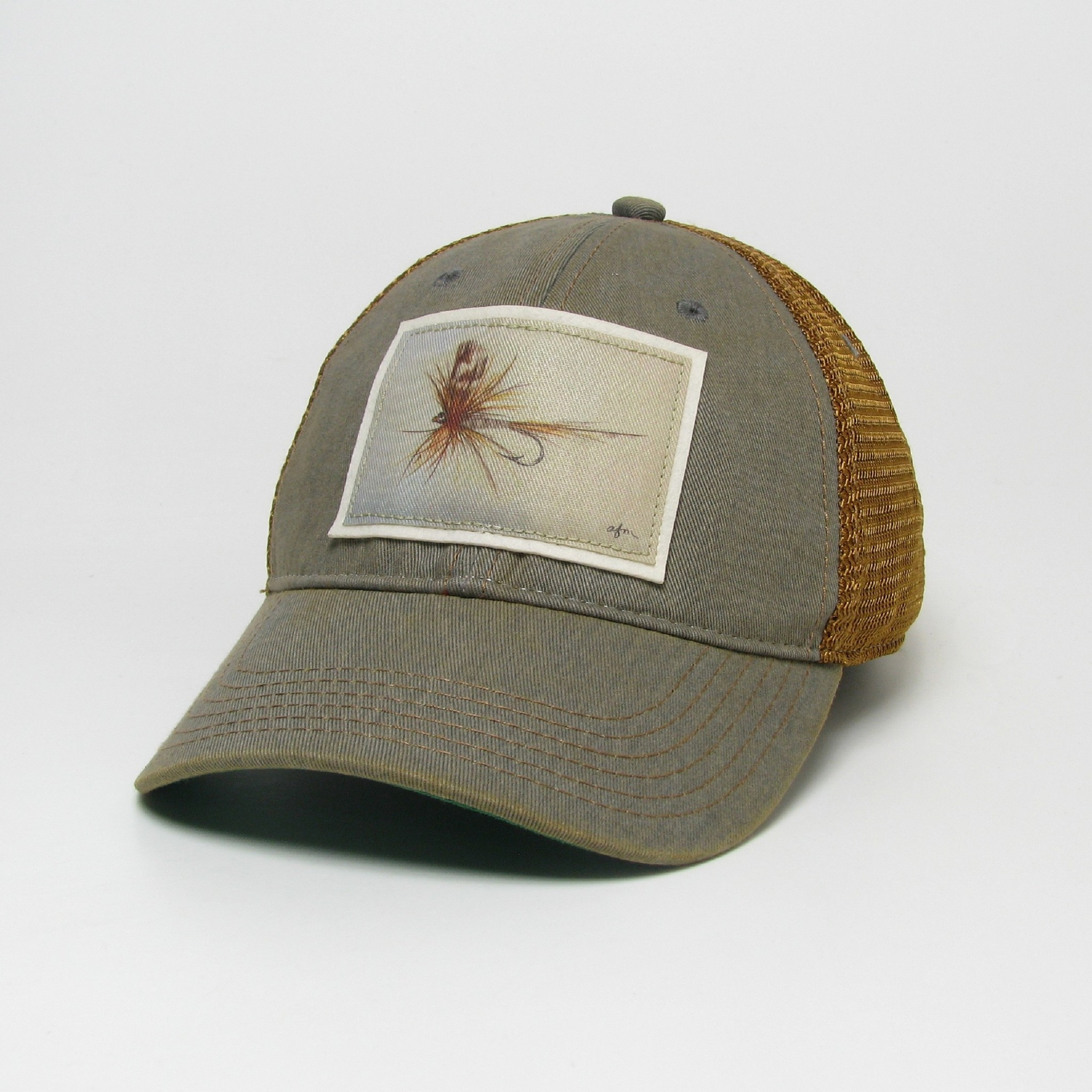 Midwest and Beyond Adams Fly Grey/Copper Old Favorite Trucker Hat