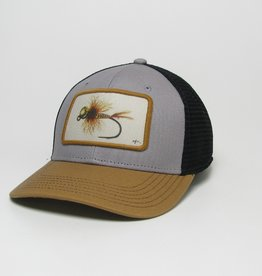 Midwest and Beyond Blue Quill Fly Grey/Camel/Black Mid-Pro Trucker
