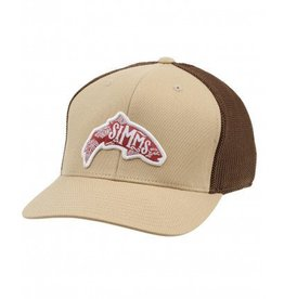 SIMMS SIMMS FLEXFIT TRUCKER WOODBLOCK