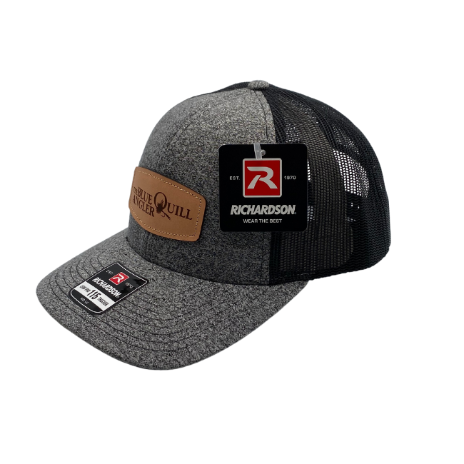 BLUE QUILL ANGLER BQA Logo Trucker (R-115) - Leather Patch