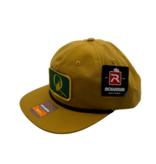 "BLUE QUILL ANGLER BQA Logo Adjustable Flat Bill Rope Hat (R-256) - ""Q"" Logo Patch"
