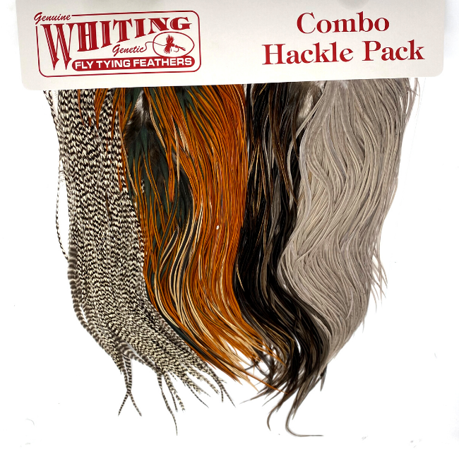 WHITING FARMS, INC WHITING Intro Hackle Pack - 4  Half Saddles