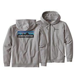 PATAGONIA Patagonia Mens P-6 Logo Midweight Full-Zip Hoody - Small - Feather Grey